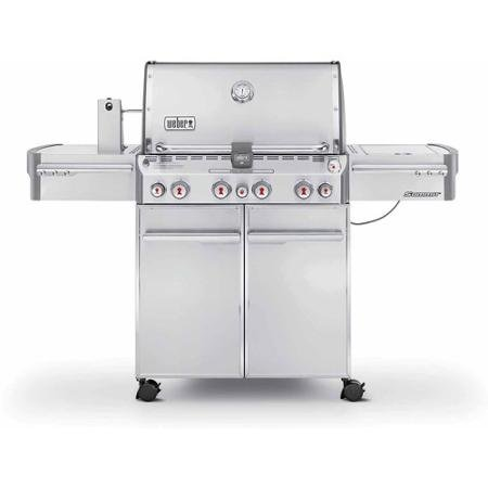 Weber Summit S-470 LP Gas Grill, Stainless Steel