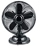 Optimus F6212 Blk Table Fan 12inch Oscillating Antique 3speed