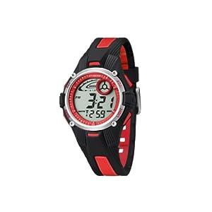 Calypso 5558/5 - Reloj para niños de cuarzo, correa de goma color varios colores (con luz, cronómetro, cuenta atrás, alarma)