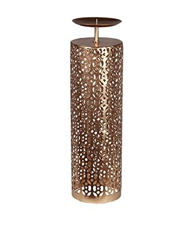 Privilege Large Iron Candle Holder, Copper