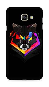 Amez designer printed 3d premium high quality back case cover for Samsung Galaxy A7 (2016 EDITION) (Wolf face abstract colorful)