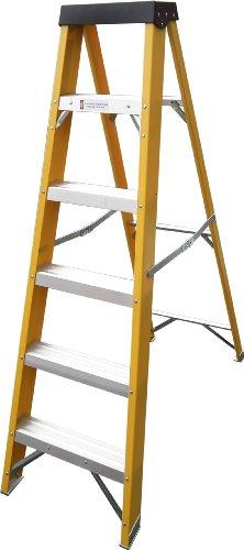 Electricians Heavy Duty Fibreglass 6 Step Ladder EN131