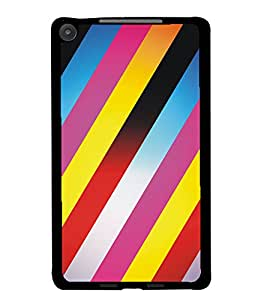 PrintDhaba Pattern D-5305 Back Case Cover for ASUS GOOGLE NEXUS 7 2013 (Multi-Coloured)