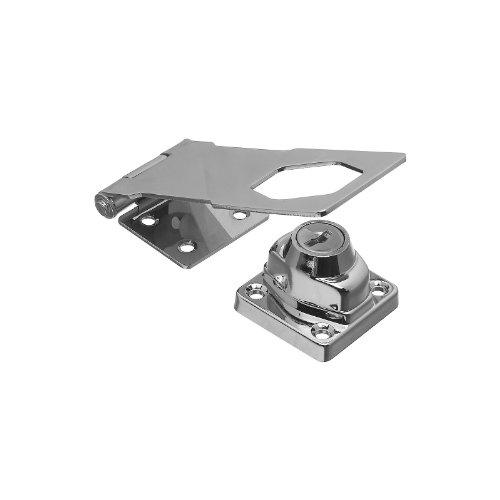 National Hardware N206-953 Vka827 4-1/2In. Key Alike Hasp Lock, Chrome 6 Pack