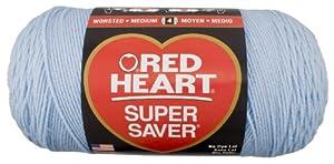Red Heart E302B.0381 Super Saver Jumbo Yarn, Light Blue