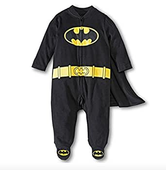 Baby Boys' Batman Caped Sleep N' Play Outfit