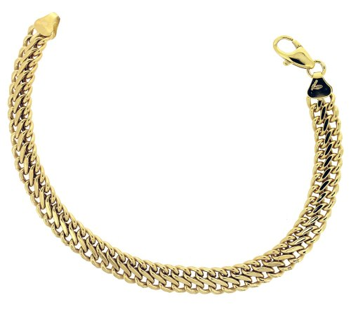9ct Yellow Gold Bracelet 18.5cm