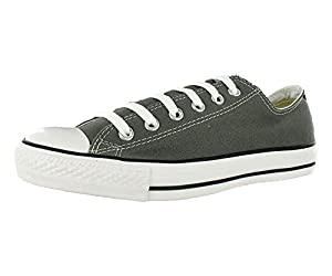 Converse Mens Chuck Taylor All Star Seasonal Ox Charcoal Fabric Fashion Sneakers Size 8