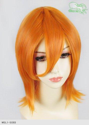 スキップウィッグ 魅せる シャープ 小顔に特化したコスプレアレンジウィッグ シャイニーミディ マンゴー