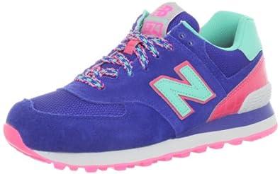 New Balance Women's WL574 BFF Pack Sneaker,Blue/Green,9 B US