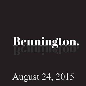 Bennington, Emma Willmann, August 24, 2015 Radio/TV Program