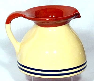 Genuine Terracotta Chubby Jug - Creamblue by Be-Active