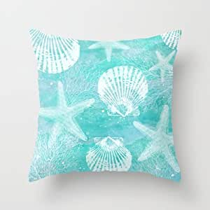 Inexpensive Throw Pillow Inserts : Amazon.com - Simple Design Cheap Pillowcase Coastal Throw Pillow