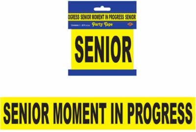 Senior Moment In Progress Party Tape (1 per package) - 1