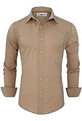 Tom's Ware Mens Casual Slim Fit Basic Dress Shirts