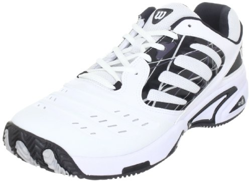 Wilson Tour Vision II Mens Tennis Shoes, Size- 10 UK, Color- White/Black/Silver