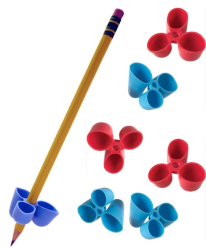 The Pencil Grip Writing CLAW for Pencils and Utensils, Medium Size, 6 Count Blue/Red (TPG-21206) (The Pencil Grip Inc compare prices)