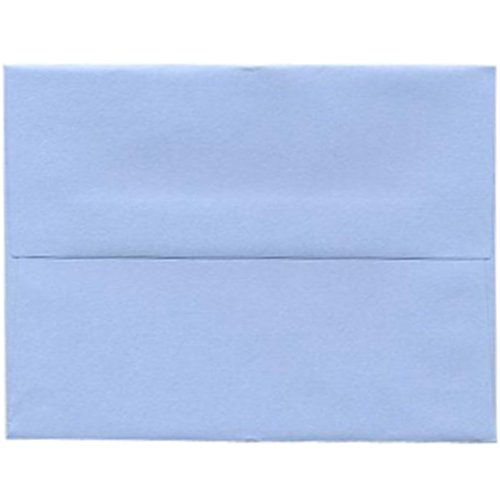 A2 (4 3/8 x 5 3/4) Light Baby Blue Paper Invitation Envelope - 25 envelopes per pack