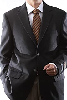 Men's Single Breasted Two Button Black Blazer