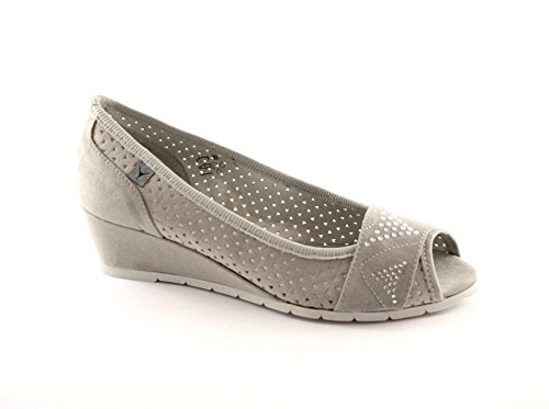 CINZIA SOFT 03554F grigio scarpe donna ballerine decolletè spuntata zeppetta 38