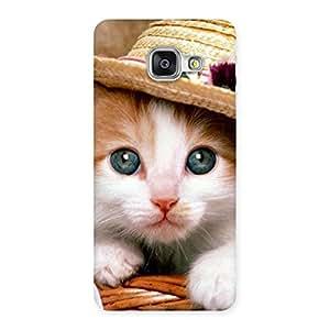 Premium Premium Cute Hats Cat Multicolor Back Case Cover for Galaxy A3 2016