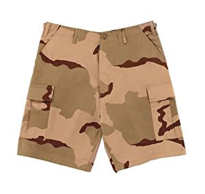 Tri Color Desert Camo BDU Shorts (Small)