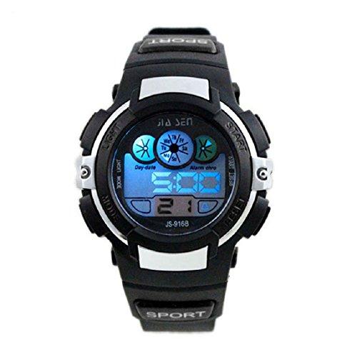Zps(Tm) Boy Waterproof Digital Led Quartz Alarm Date Sports Wrist Watch (Black)