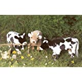 "Kosen 14"" Black White Cow Plush Stuffed Animal Toy"