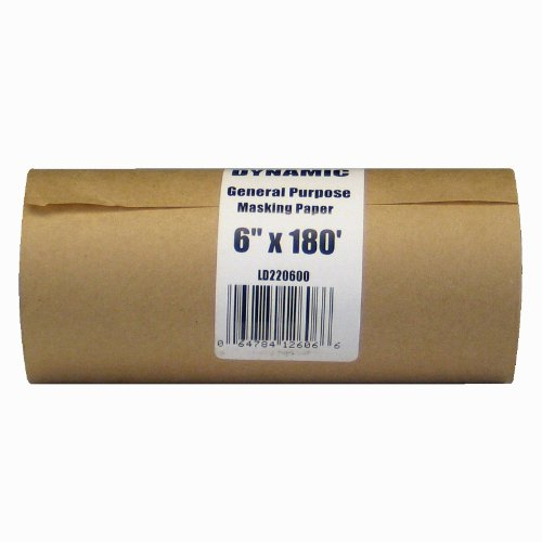 Dynamic LD220600 6-Inch x 180-Feet Painter's Masking Paper Dispenser Rolls, 30 Pound Stock (Painters Tape Dispenser compare prices)
