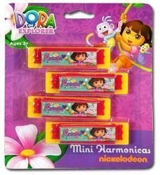 Dora The Explorer 7x6x.254Pk Mini Harmonica