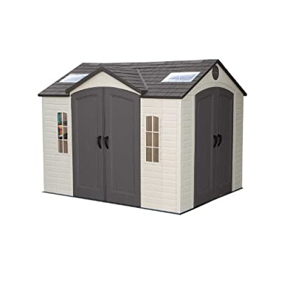 Lifetime 60001 8-by-10-Foot Outdoor Storage Shed