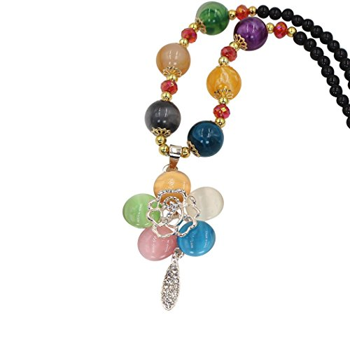 Duo La Cute Colorful Flower Opal Beads Fashion All-match Lady Pendant Necklace