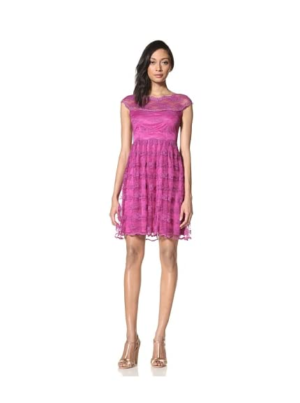 Alexia Admor Women's Cap Sleeve Lace Dress