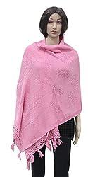 Romano Women's Pink Winter Wear Shawl