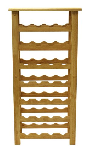 Winsome Wood 28-Bottle Wine Rack, Natural