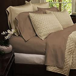 Bamboo Comfort Sheet Set - King Size 4pc Set -Wrinkle Free - Eco Friendly (King, Taupe)