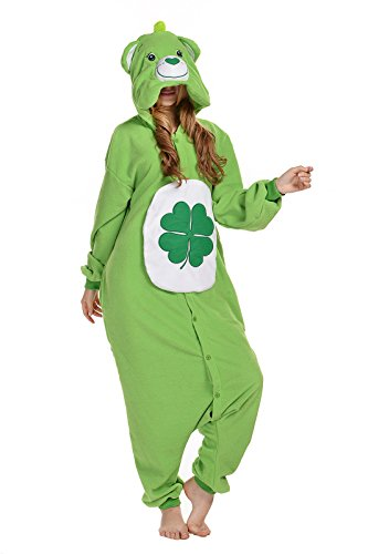 NEWCOSPLAY Halloween Polar Fleece Christmas Party Dress (M, Green Bear) (Adult Care Bear Costume compare prices)