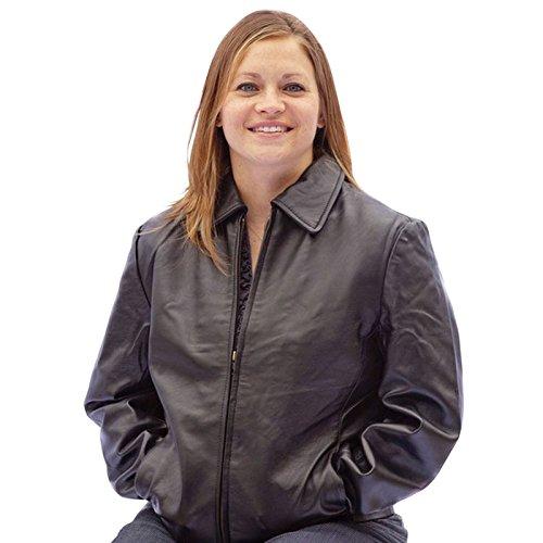 Canyon Outback Leather Santa Anna Women'S Waist-Length Leather Jacket - Black