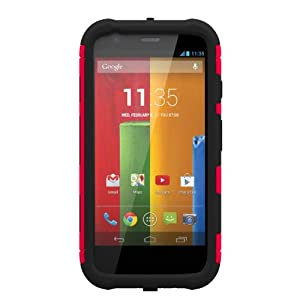 Trident Aegis Series Case for Motorola Moto G - Retail Packaging - Red