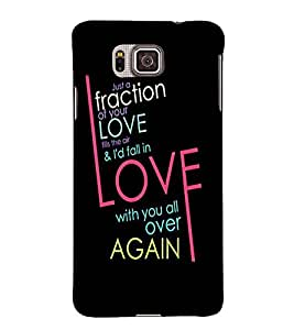 INTELLIGENT LOVE QUOTE WITH A BLACK BACKGROUND 3D Hard Polycarbonate Designer Back Case Cover for Samsung Galaxy Alpha G850