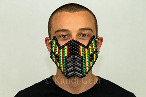 Sub Zero 420 Rasta Mortal Kombat Full Kandi Mask