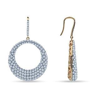 7.08 Ctw Diamond Circle Earrings In 14K Rose Gold