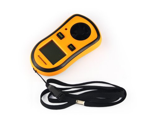 USAMZ909� New Style LED Handheld Travel Anemometer Thermometer With Backlight
