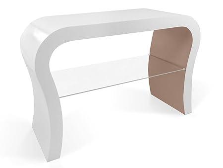 Diseño Retro de La TV de Pie Con Estante de Vidrio en Varios Colores