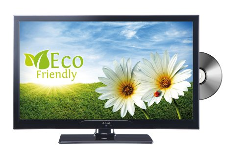 Akai ALED2409TBK 61 cm (24 Zoll) LED-Backlight-Fernseher, EEK A (HD-Ready, DVB-T/-C, DVD, USB 2.0) matt-schwarz
