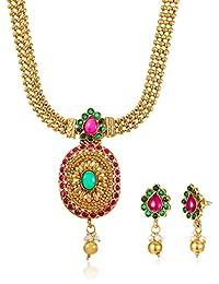 Ava Jewellery Set For Women (Gold) (S-O-NL5002)