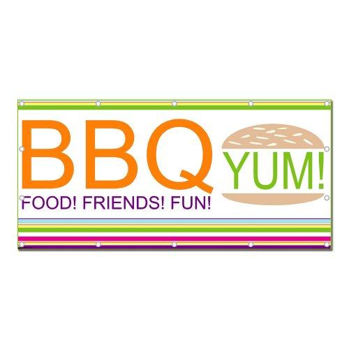 Bbq Hamburger Fun Family - Celebration Party 8'X4' Banner