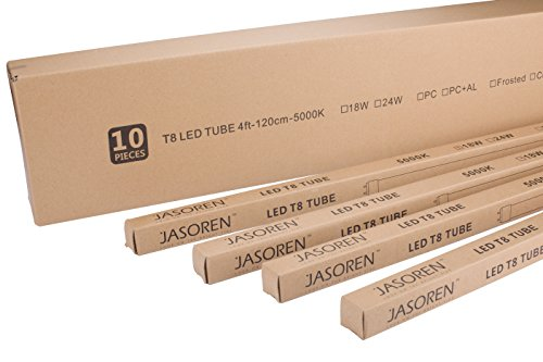 Jasoren LED Tube T8 4ft Daylight 18W 10-pack
