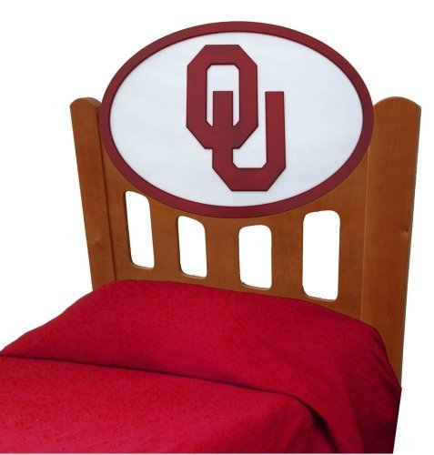 Cheap University of Oklahoma Sooners Kids Wooden Twin Headboard With Logo (C0526S-Oklahoma)