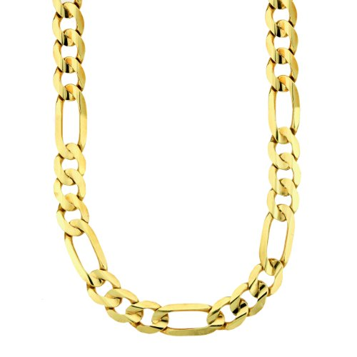 Men's 14k Yellow or White Gold Figaro Chain Necklace